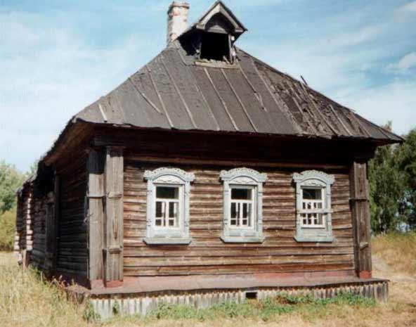 Старый деревянный дом фото