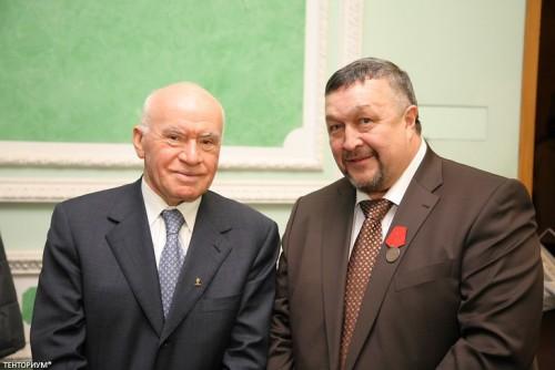 Президент и Основатель компании ТЕНТОРИУМ® Раиль Хисматуллин и Президент Лиги здоровья нации Лео Бокерия.
